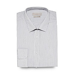 Red Herring - Big and tall white striped slim fit shirt