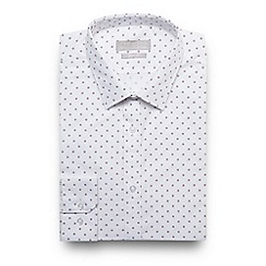 The Collection - White spotted slim fit shirt