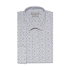Red Herring - Big and tall white dandelion print slim fit shirt