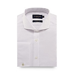 Osborne - Big and tall white textured oxford shirt
