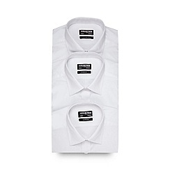 The Collection - Pack of three white easy care shirt