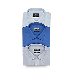 The Collection - Big and tall pack of three blue plain shirts