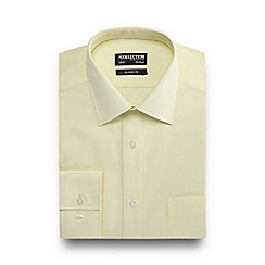 The Collection - Big and tall yellow easy care shirt