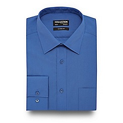 The Collection - Mid blue easy care shirt