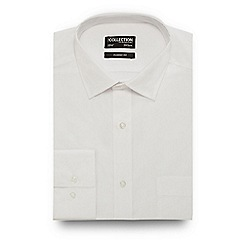 The Collection - Big and tall white easy care shirt