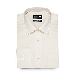 The Collection - Big and tall cream easy care shirt