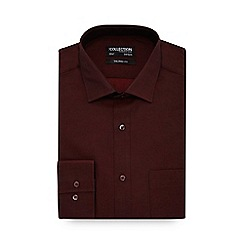 The Collection - Dark red long sleeve tailored fit shirt