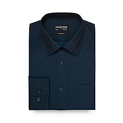 The Collection - Dark turquoise plain tonic tailored shirt