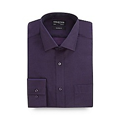 The Collection - Dark purple plain tonic tailored shirt