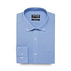 The Collection - Blue easy care shirt