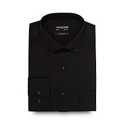 The Collection - Big and tall black easy care shirt