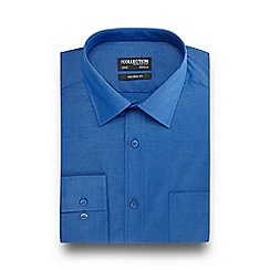 The Collection - Big and tall blue tailored fit shirt