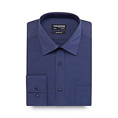 The Collection - Blue chambray tailored fit shirt