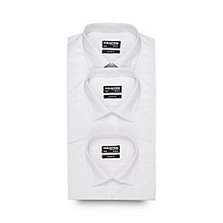 The Collection - Big and tall pack of three white shirts
