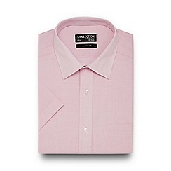 The Collection - Big and tall pink easy care short sleeve shirt