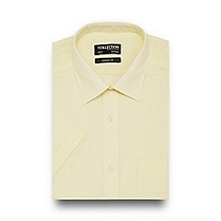 The Collection - Light yellow easy care short sleeve shirt
