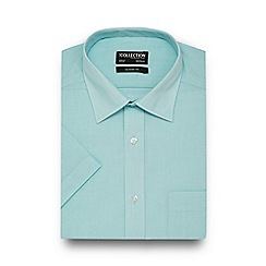 The Collection - Light green easy care short sleeve shirt