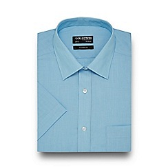 The Collection - Aqua easy care short sleeve shirt