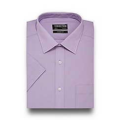 The Collection - Big and tall lilac easy care short sleeve shirt