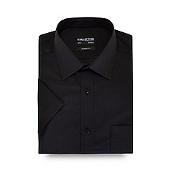 The Collection - Big and tall black easy care short sleeve shirt