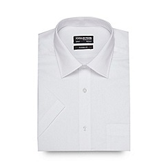 The Collection - Big and tall white easy care short sleeve shirt