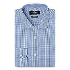 Jeff Banks - Big and tall designer blue gingham tailored fit shirt