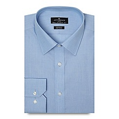 Jeff Banks - Big and tall designer light blue tailored fit shirt