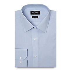 Jeff Banks - Big and tall designer blue fine striped regular fit shirt