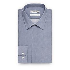 J by Jasper Conran - Blue textured mini diamond tailored fit shirt