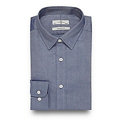 J by Jasper Conran - Blue textured slim fit shirt