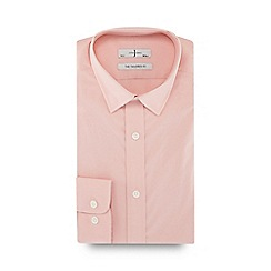 J by Jasper Conran - Big and tall pink button down collar tailored fit shirt