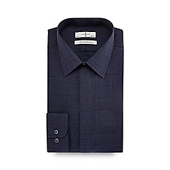 J by Jasper Conran - Big and tall navy guard stripe tailored fit shirt