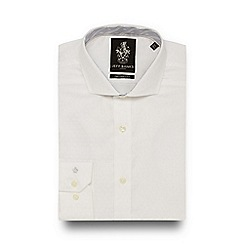 Jeff Banks - White jacquard tailored fit shirt