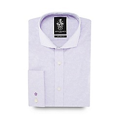 Jeff Banks - Lilac floral print cutaway collar tailored fit shirt