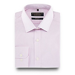 Hammond & Co. by Patrick Grant - Big and tall pink striped point collar slim fit shirt