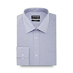 The Collection - Grey gingham print long sleeve regular fit shirt
