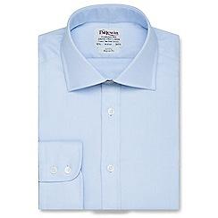 T.M.Lewin - Regular fit blue Oxford button cuff regular sleeve length shirt