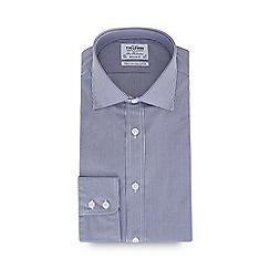 T.M.Lewin - Blue Bengal stripe print long sleeve regular fit shirt