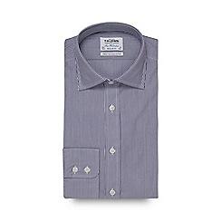 T.M.Lewin - Blue stripe print long sleeve regular fit shirt