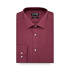 The Collection - Rose marl long sleeve classic fit shirt