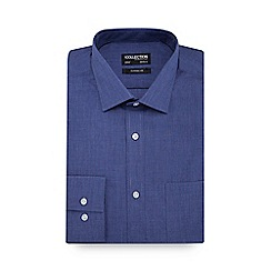 The Collection - Blue marl long sleeve classic fit shirt