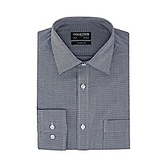 The Collection - Black houndstooth check classic fit shirt