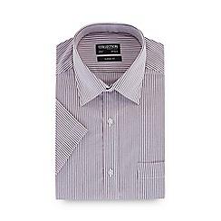 The Collection - Dark pink striped regular fit long sleeve regular fit shirt