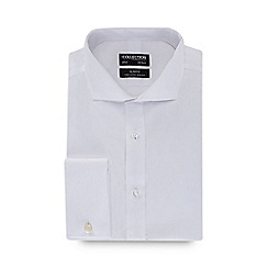 The Collection - White long sleeve non iron tailored fit shirt
