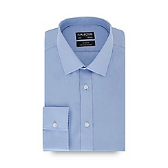 The Collection - Blue long sleeve non-iron slim fit shirt