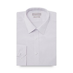 Red Herring - White extra long sleeve and body slim fit shirt
