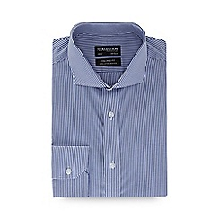 The Collection - Big and tall navy striped long sleeve tailored fit shirt