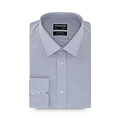 The Collection - Grey striped long sleeve non-iron classic fit shirt