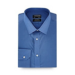 The Collection - Blue long sleeve non-iron tailored fit shirt