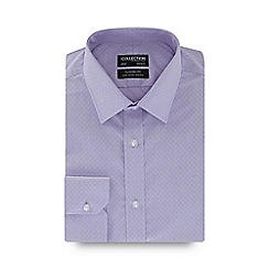 The Collection - Lilac circle dobby long sleeve non-iron regular fit shirt